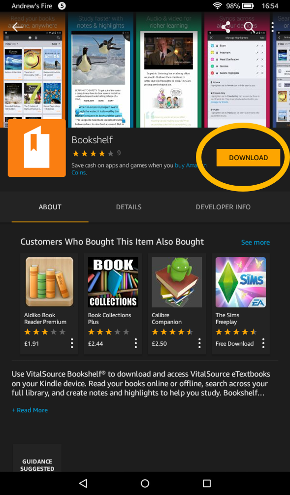 Jellybooks Vitalsource On Kindle Fire Pages