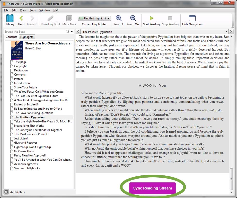 Add The End Of Each Chapter You Will Find Purple Jellybooks Sync Reading Stream Button Supported Apps Vitalsource On PC